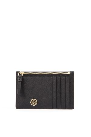 BLACK LEATHER CARDHOLDER WITH LOGO SS 2019 TORY BURCH | 2 | 50211ROBINSON001