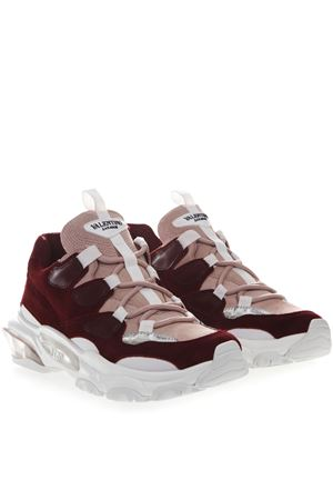 BOUNCE SNEAKERS IN BORDEAUX AND PINK SUEDE SS 2019 VALENTINO GARAVANI | 55 | RW0S0L27HNXPF4