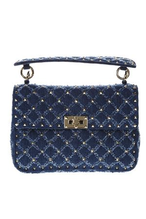 MEDIUM ROCKSTUD SPIKE BLUE BAG IN DENIM SS 2019 VALENTINO GARAVANI | 2 | RW2B0122QVB097