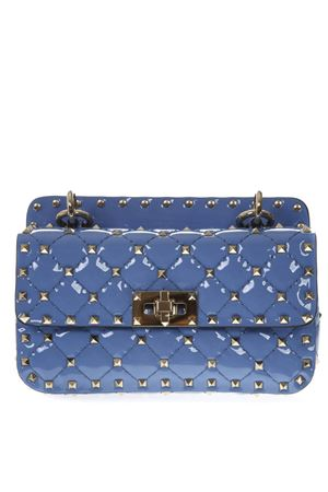 ROCKSTUD SPIKE SMALL LIGHT BLUE QUILTED PATENT LEATHER BAG SS19 VALENTINO GARAVANI | 2 | RW2B0123VNEGY7