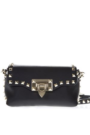 ROCKSTUD MINI BLACK LEATHER BAG SS19 VALENTINO GARAVANI | 2 | RW2B0C68BOL0NO