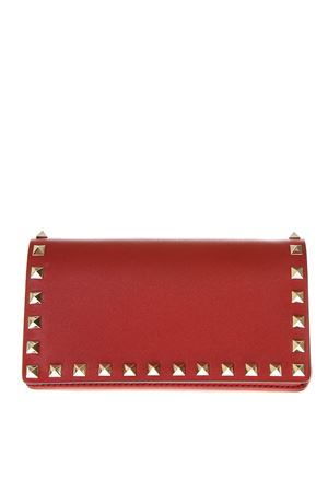 RED LEATHER STUDS CLUTCH SS19 VALENTINO GARAVANI | 2 | RW2P0372BOL0RO