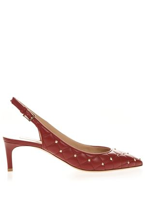 RED QUILTED LEATHER STUDS PUMPS SS19 VALENTINO GARAVANI | 68 | RW2S0J33NSN0RO