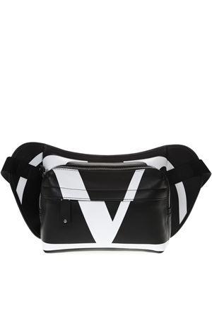 V LOGO BELT BAG IN BLACK AND WHITE LEATHER SS 2019 VALENTINO GARAVANI | 2 | RY0B0764XCU0NI
