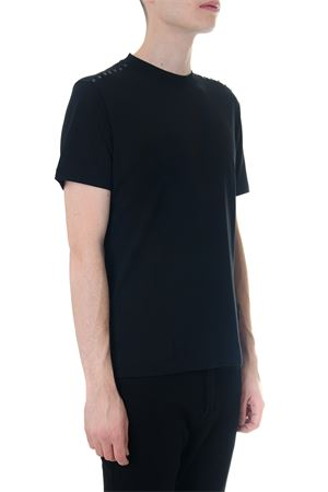 BLACK COTTON T-SHIRT ROCKSTUD UNTITLED SS 2019 VALENTINO | 15 | RV3MG08X3LE0NO