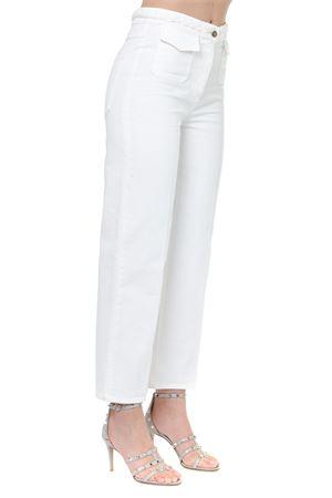 WHITE COTTON WOVEN BELT PANTS SS19 VALENTINO | 8 | RB3DD07W4EC0BO