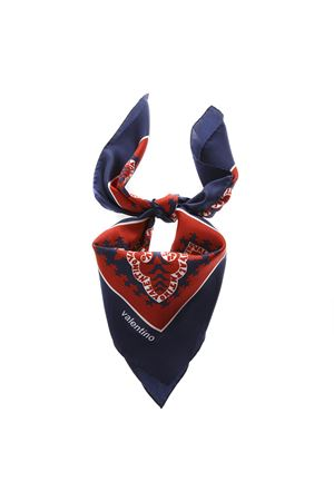 RED AND BLUE SILK SCARF SS19 VALENTINO | 20 | RT2EI114ZZXAM1