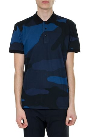 CAMOUFLAGE BLUE POLO SHIRT IN COTTON SS 2019 VALENTINO | 11 | RV3MH00KIIBF70