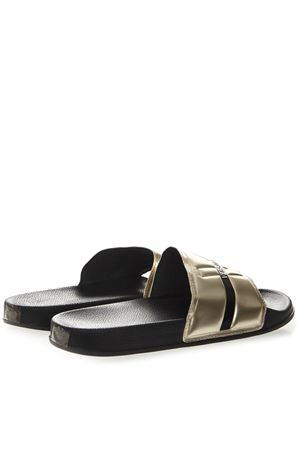cfebe0bac1d43 BLACK RUBBER LOGO SLIPPER SANDAL SS19 - VERSACE JEANS - Boutique Galiano