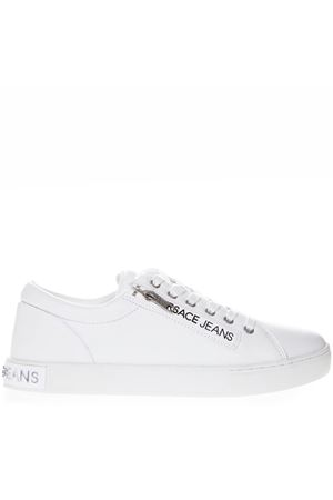 WHITE FAUX LEATHER SNEAKERS WITH LOGO SS 2019 VERSACE JEANS | 48 | E0YTBSM8 70847UNI003