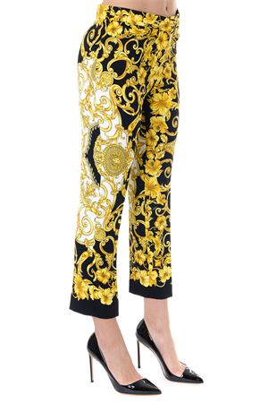 ICONIC PRINTED TAILORED TROUSERS BLACK E GOLD SS 2019 VERSACE | 8 | A80513A228618A7900
