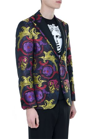 BAROQUE PRINT SINGLE BREASTED JACKET IN MIXED SILK SS 2019 VERSACE | 14 | A81847A228402A43H