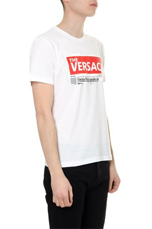 WHITE HEADLINE TSHIRT IN COTTON SS 2019
