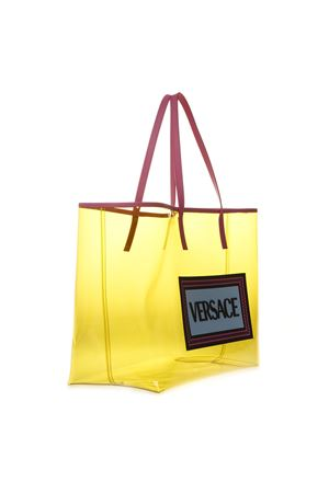 YELLOW TRANSPARENT LUCID VINYL BAG SS19 VERSACE | 2 | DBFG908D3PVCDF2MT