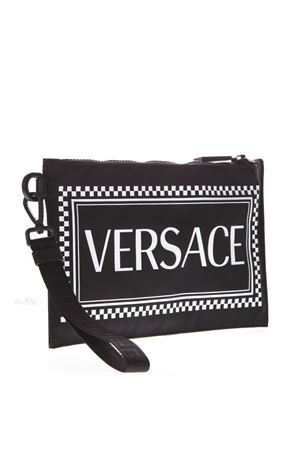 BLACK NYLON CLUTCH WITH VERSACE LOGO SS 2019 VERSACE | 2 | DP84725DNYVERKNBN