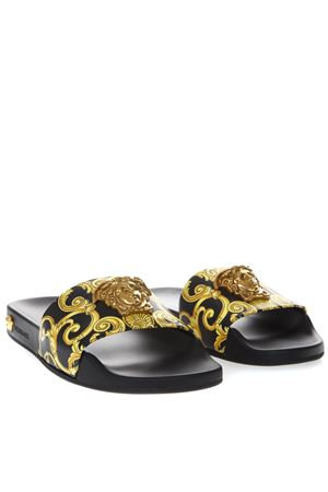 BLACK SANDALS WITH MEDUSA DETAIL SS19 VERSACE | 87 | DSR260CDVB1D4DT