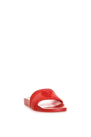 RED COLOR PALAZZO MEDUSA SANDALS SS 2019 VERSACE | 87 | DSU5883DGO9GD6G