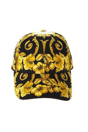 BLACK & GOLD BAROQUE BASEBALL COTTON HAT SS19 VERSACE   17   ICAP004IT3081I450