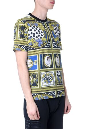 MULTICOLORED VERSACE COTTON PRINT T-SHIRT SS 2019 VERSUS | 15 | BU90783BJ10512B7343