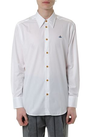 WHITE POPLIN COTTON SHIRT WITH LOGO EMBROIDERED SS 2019 VIVIENNE WESTWOOD | 9 | S25DL0433S47889100