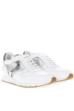 WHITE JULIA MESH LEATHER AND MESH SNEAKER SS19 VOILE BLANCHE | 55 | JULIA MESH001-2013488-05BIANCO/ARGENTO