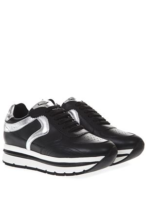 BLACK MARICA LEATHER SNEAKERS SS19 VOILE BLANCHE | 55 | MARICA001-2013609-02NERO/ARGENTO