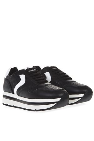 BLACK MAY LEATHER SNEAKER SS19 VOILE BLANCHE | 55 | MAY001-2013508-01NERO/BIANCO