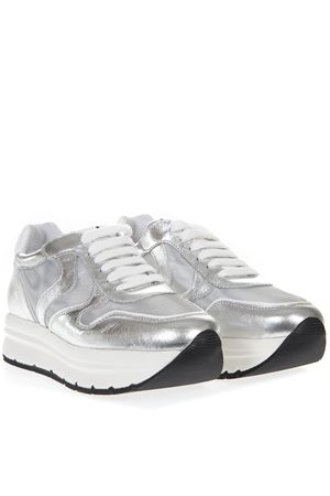 SILVER MAY MESH LEATHER SNEAKERS SS19 VOILE BLANCHE | 55 | MAY MESH001-2013506-03ARGENTO