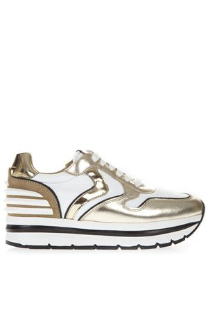 GOLD MAY POWER LEATHER & TEXTILE SNEAKER SS19 VOILE BLANCHE | 55 | MAY POWER001-2013502-01PLATINO/BIANCO/SUGHERO