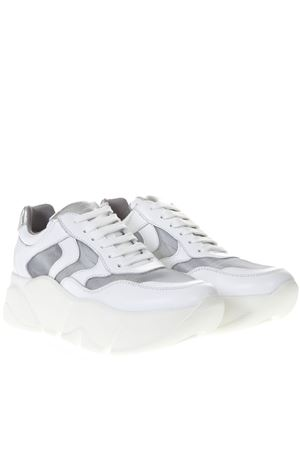WHITE MONSTER LEATHER SNEAKER SS19 VOILE BLANCHE | 55 | MONSTER001-2013592-02BIANCO/ARGENTO
