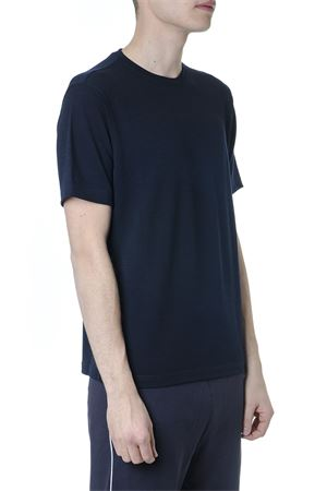 BLUE TECHMERINO WOOL T-SHIRT SS 2019 Z ZEGNA | 15 | VS394ZZT611B09