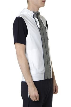 WHITE AND GRAY COTTON BLEND HOODIE VEST SS 2019 Z ZEGNA | 19 | VS451ZZ813N00