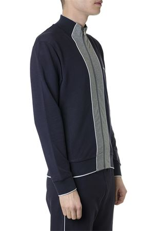 BLUE COTTON BLEND SWEATSHIRT WITH ZIP SS 2019 Z ZEGNA | 19 | VS451ZZ814B09