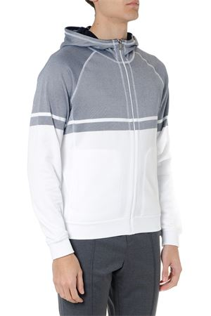 SWEATSHIRT IN GREY AND WHITE COTTON WITH HOOD SS 2019 Z ZEGNA | 19 | VS456ZZ807715