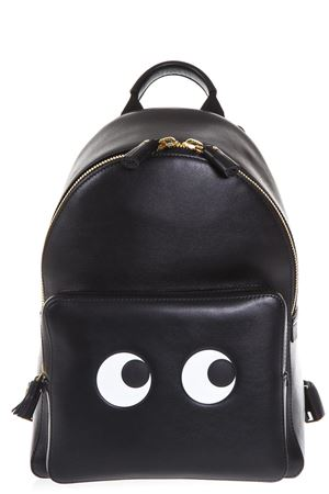 LEATHER BACKPACK WITH EYES PATCH FW 2017 ANYA HINDMARCH | 183 | 9345411BLACK