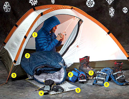 Gear for 'Sleeping in the Snow' (winter camping guide)