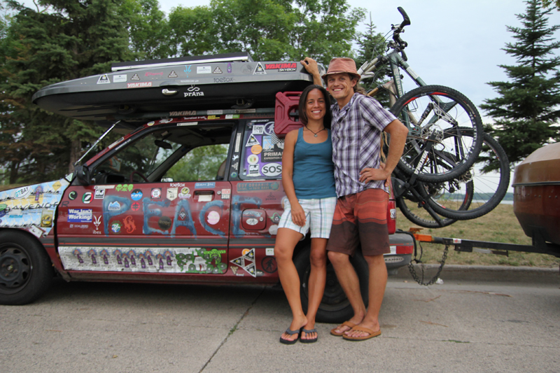 Modified Ford Festiva Is Home Office Transport For Traveling Couple