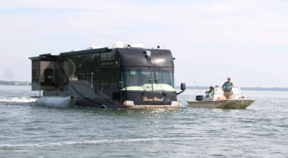 Amphibious RV in Water