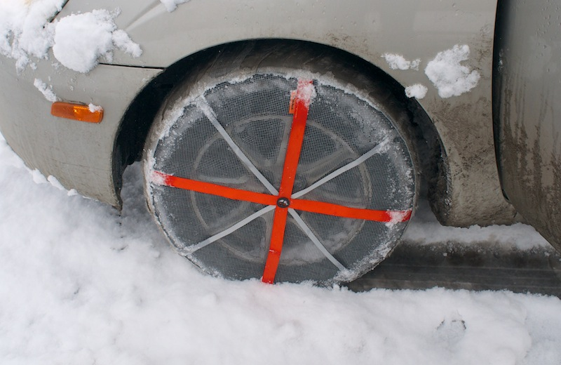 Test Drive: Traction On Snow With Fabric 'AutoSocks