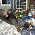 Adventure winter hammock