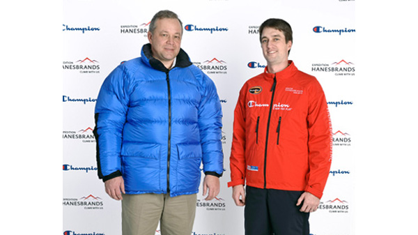 The Champion Supersuit, right, was as warm as a thick puffy coat.
