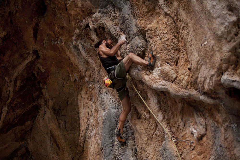 Omer climbing in Turkey
