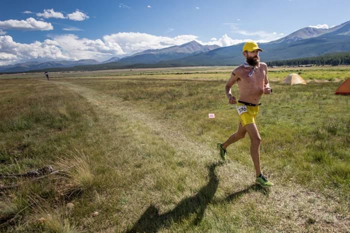 Rob Krar on his way to a Leadville 100 victory; photo by Matt Trappe