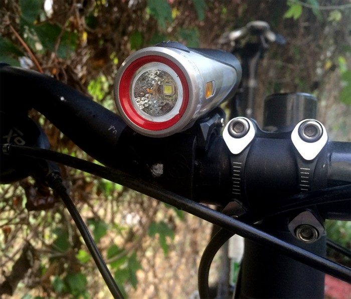 On the author's mtb handlebars