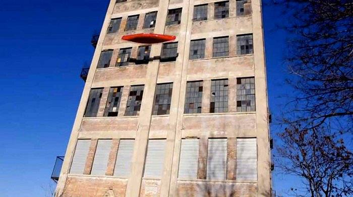 Tossed 100 feet off a building