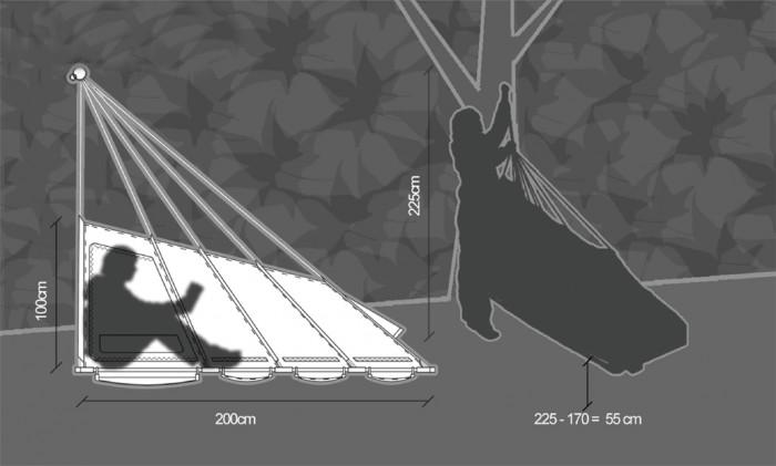 hanging tent schematics