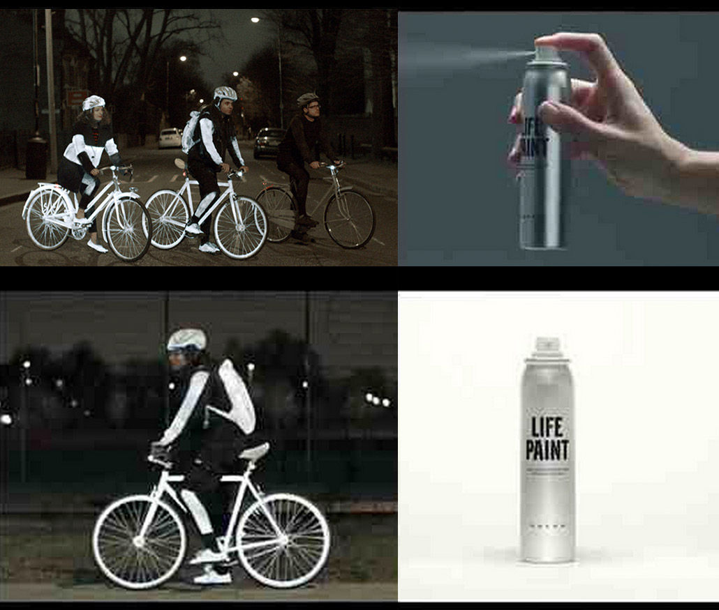 Spray On Reflective Paint For Bikers At Night