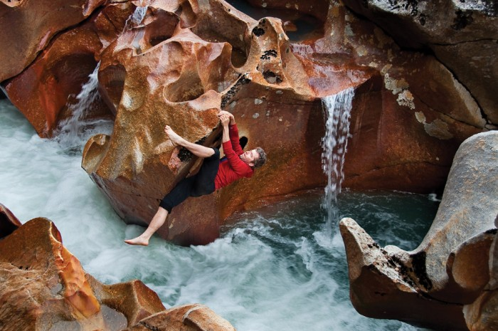 Timmy Oneill bouldering - Neff Valley Patagonia, Chile