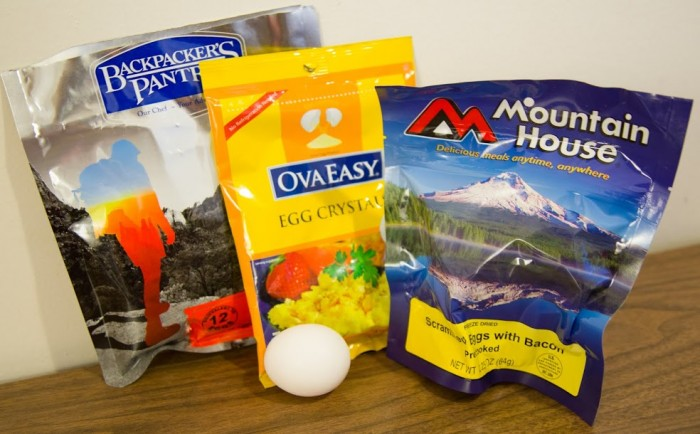 Eggs For Backpacking