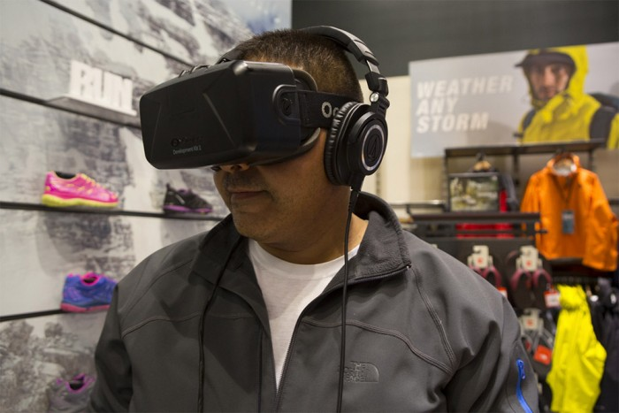 Chicago TNF store debuted virtual-reality kiosk last month